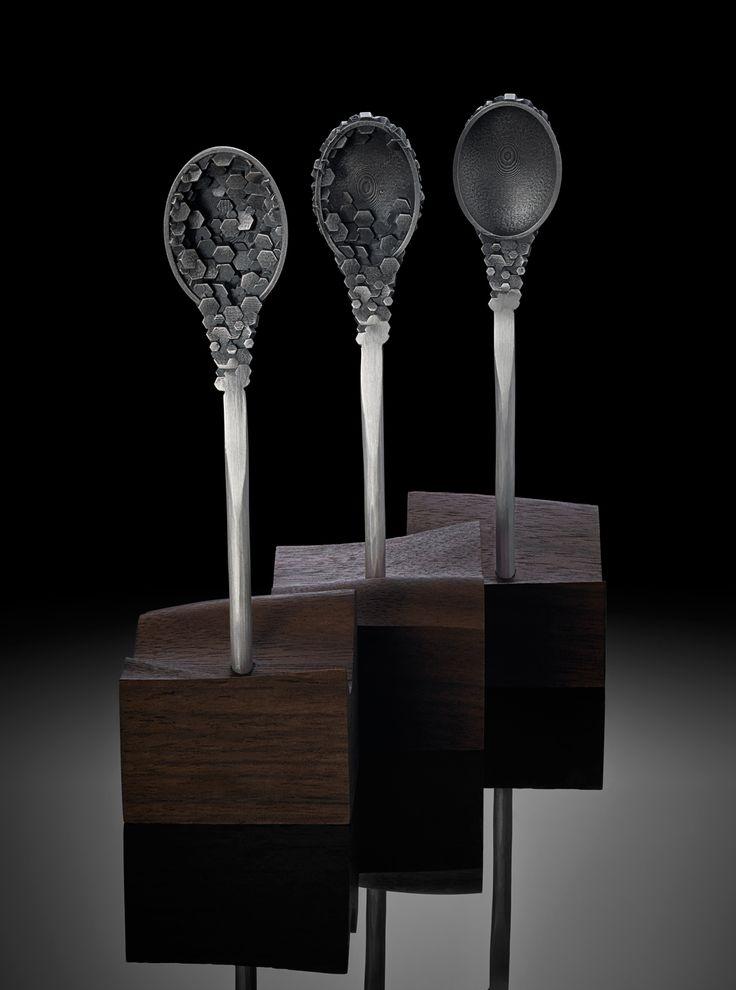 Hexagonal Granulation Spoons. Hamish Dobbie 2013