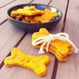 Petitbiscuits pour chienBIOen forme d'os ! Contient de la carotte, desflocons d'avoineset du persil - croquant, délicieux et sain pour votre chien.