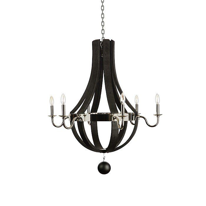Blend Your Modern Rustic Decor Together With Our Hanging Wood Ceiling Light Polished Nickel Accents
