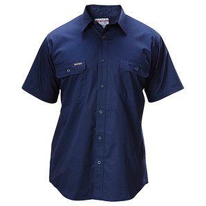 Hard Yakka Koolgear Cotton Twill Short Sleeve Shirt - Navy – Target Australia