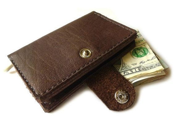 Leather Wallet Handmade Leather Mens Wallet card by MyLeatherCase
