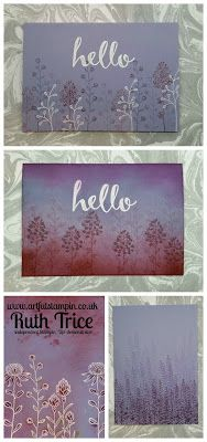 Artful Stampin' Uk Independent Stampin' Up! demonstrator - Flowering Fields and Hello - Video on blog