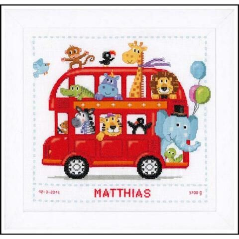 Vervaco® Safari Bus Counted Cross-Stitch Kit