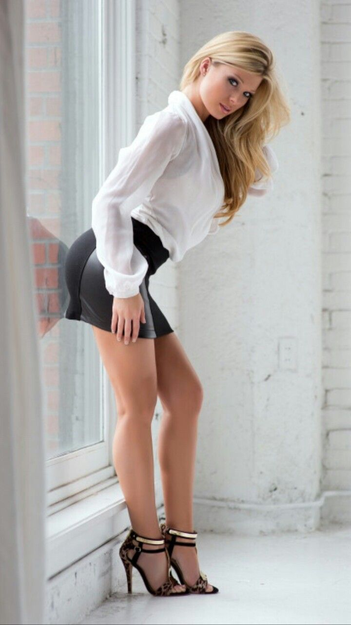 Sexy babes in mini skirts