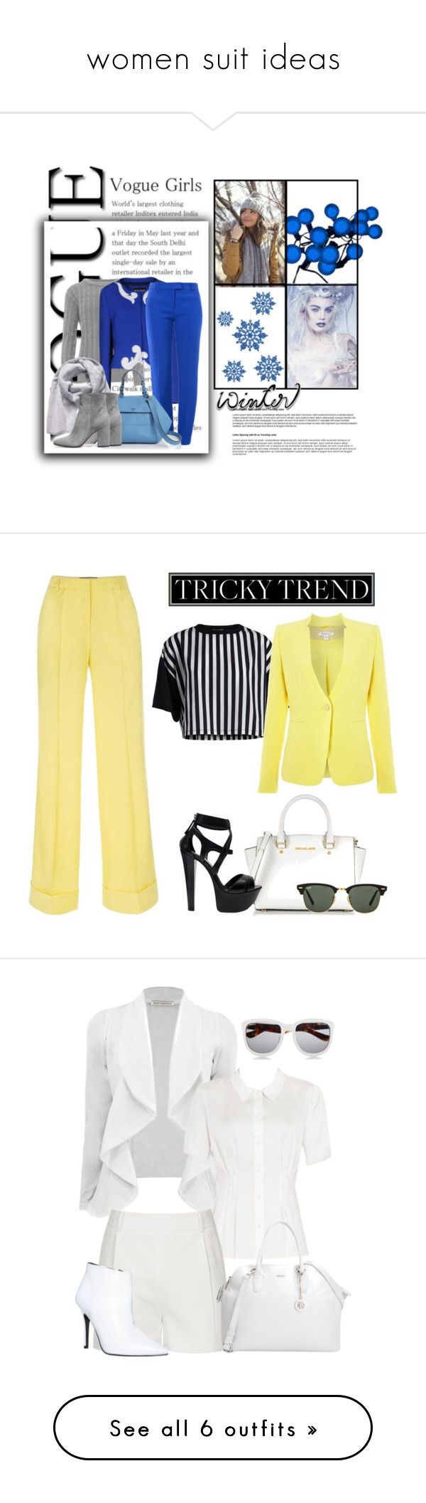 """""""women suit ideas"""" by sanitacrns on Polyvore featuring WearAll, Boutique Moschino, Tory Burch, The North Face, Gianvito Rossi, Paul Smith, Michael Kors, Pieces, Marella and Gianmarco Lorenzi"""