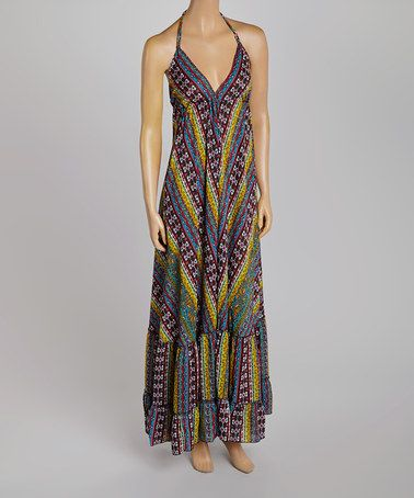 Another great find on #zulily! Black Tribal Halter Maxi Dress by Just Funky #zulilyfinds