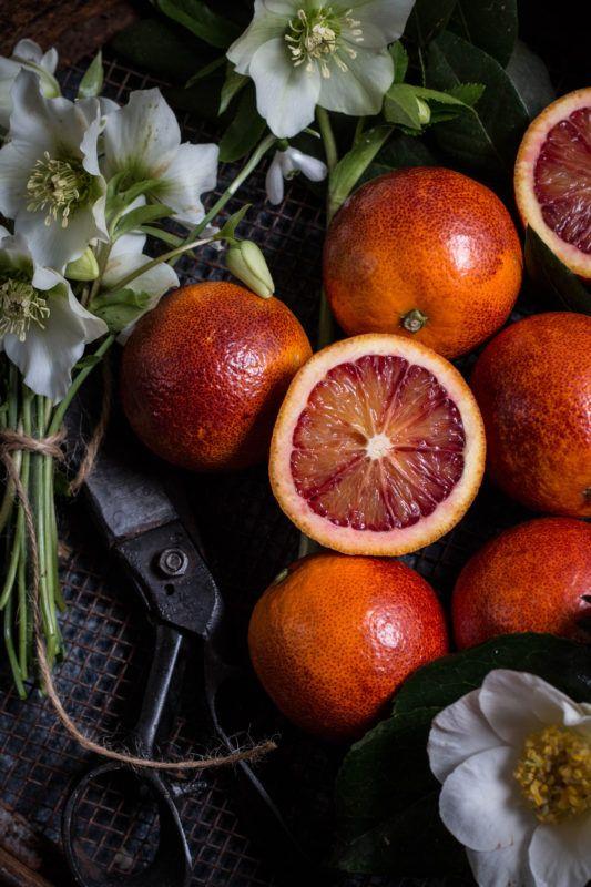 rhubarb and blood orange tart - twigg studios