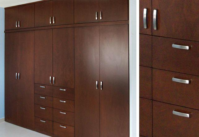 Closet de madera modernos 642 441 dibujos for Closet para recamaras modernas