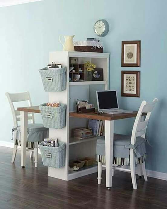 Idea for cute working space for two...