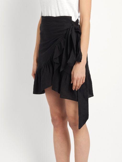 Isabel Marant Étoile Dempster ruffled mini skirt. July 2017
