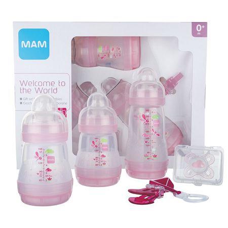 biberon mam kit naissance rose
