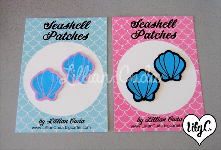 Image of Mermaid Sea Shell Patches (Sew On)