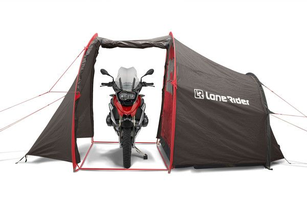 Motorcycle tent MotoTent v2 front BMW R 1200 GS Adventure