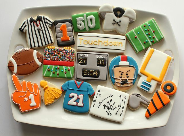 Awesome Football Cookies, by SweetSugarBelle