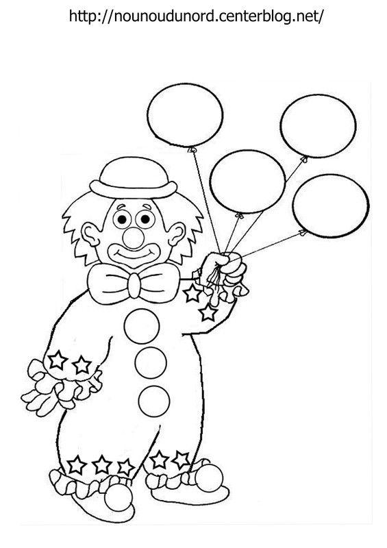 Coloriage Clown Cirque Imprimer.Coloriage Clown Ballon Dessine Par Nounoudunord Palyaco Coloring