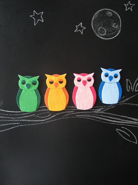 Felt owl magnets...turn any felt applique into a magnet