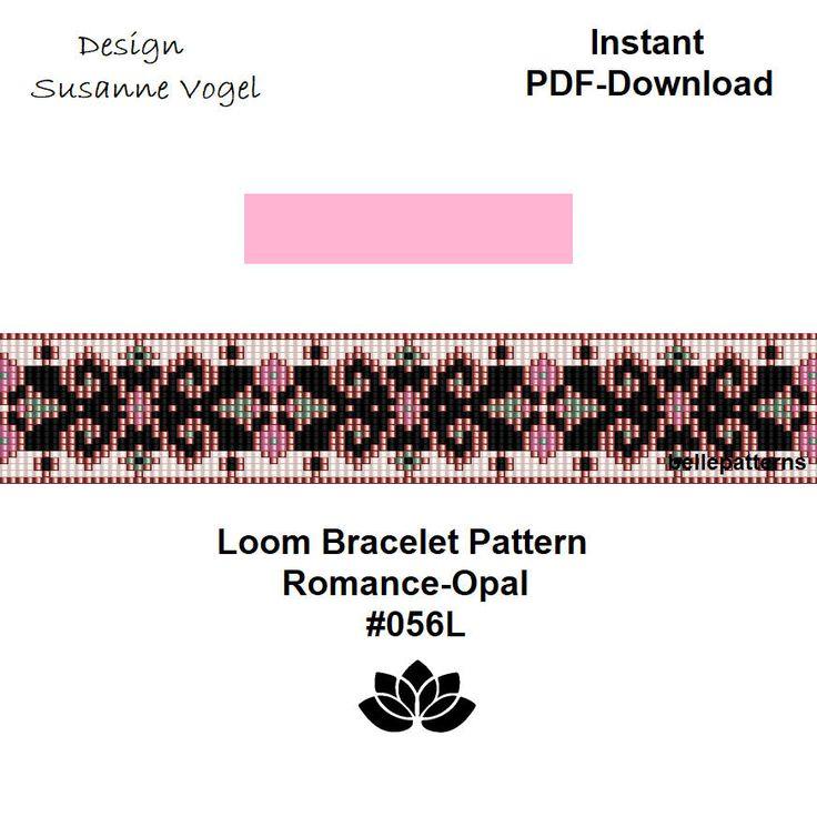 loom bracelet pattern,PDF-Download,#056L,cuff bracelet pattern,beading pattern,beading tutorials,square stitch,loom von bellepatterns auf Etsy