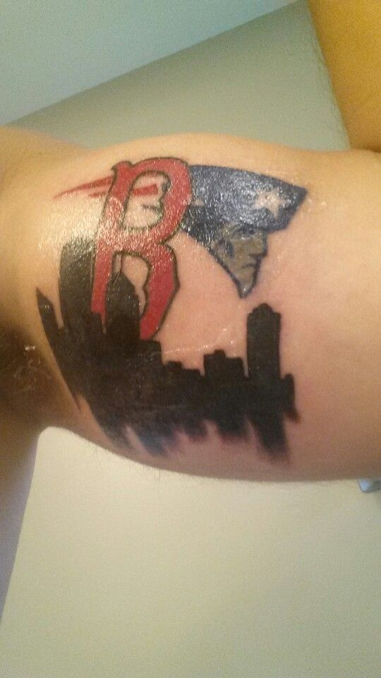 Bost tattoo #boston #tattoo #bicep #redsox