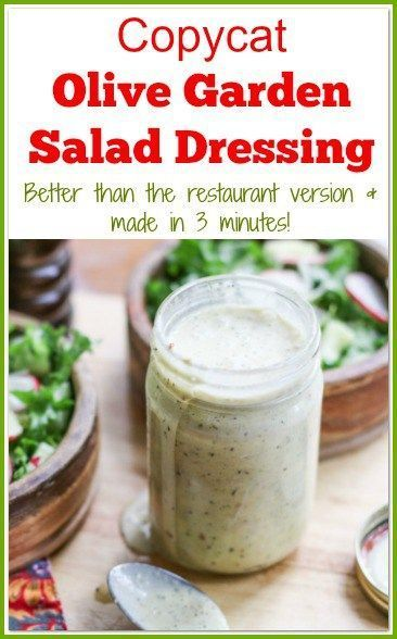 This Copycat Olive Garden Salad Dressing Recipe Is Better Than The  Restaurant Version. It Is