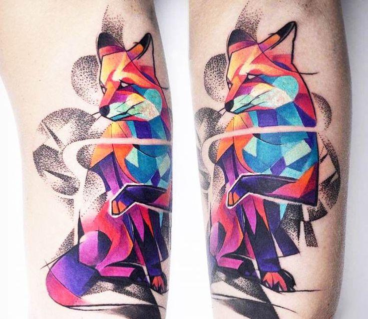 Red Fox tattoo by Carlos Breakone