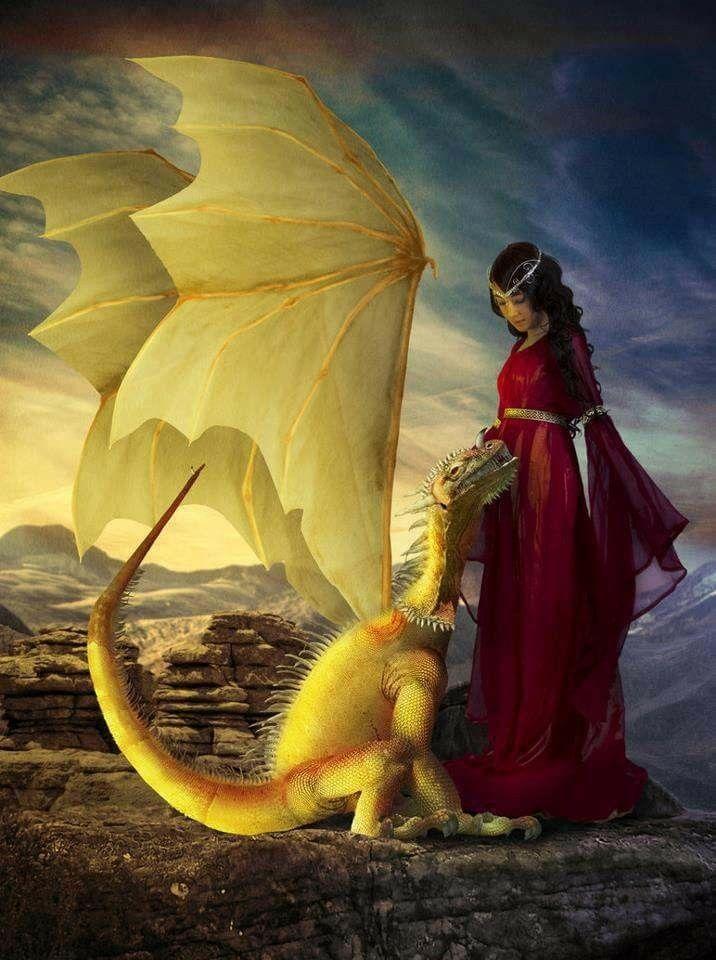 Картинки женщина на драконе