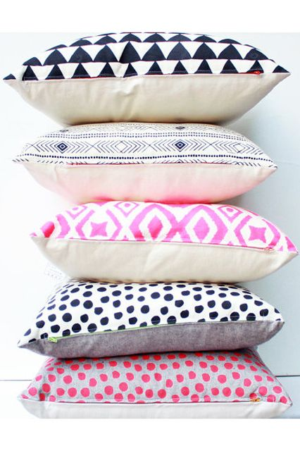 Best Of Etsy Handmade Summertime Pieces Eaethcadets polka dot pillow $36