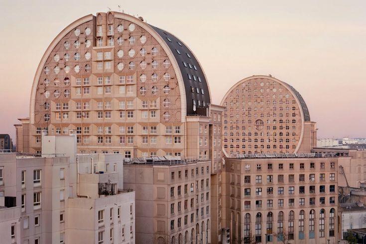 """Parisian-based photographer Laurent Kronental's """"Souvenir d'un Futur"""" series captures neglected buildings transformed into a modernist utopia."""