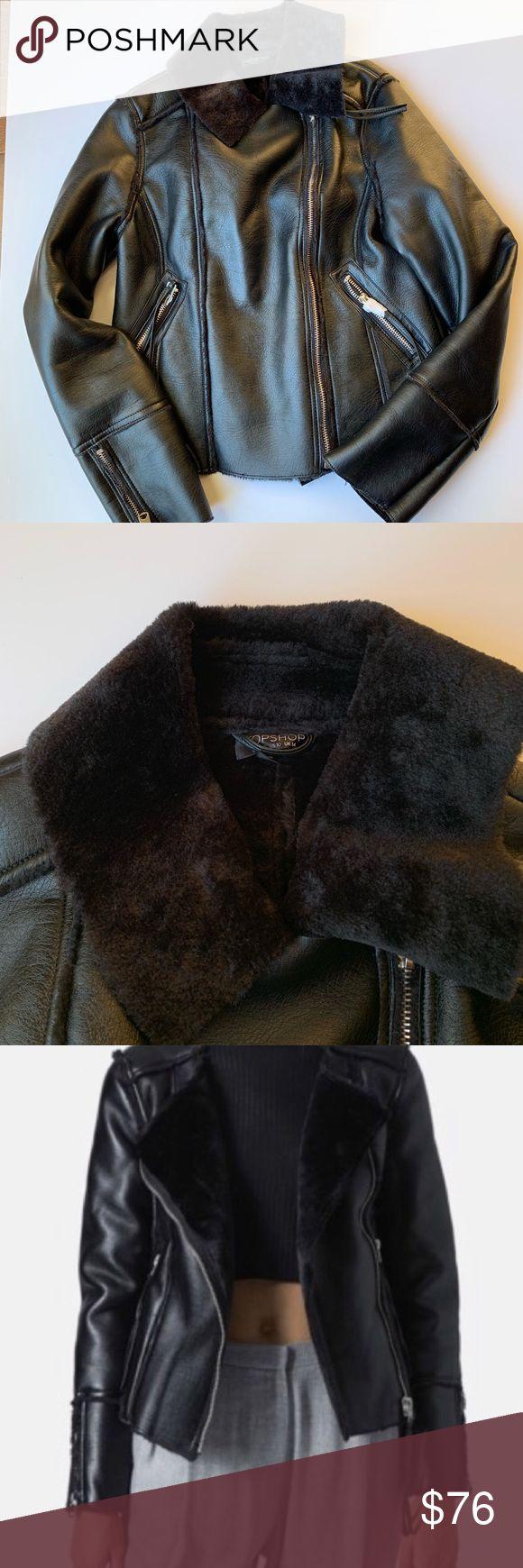 fur lined leather biker jacket Jackets,