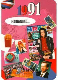 Narozeninové přání Retro - 1991