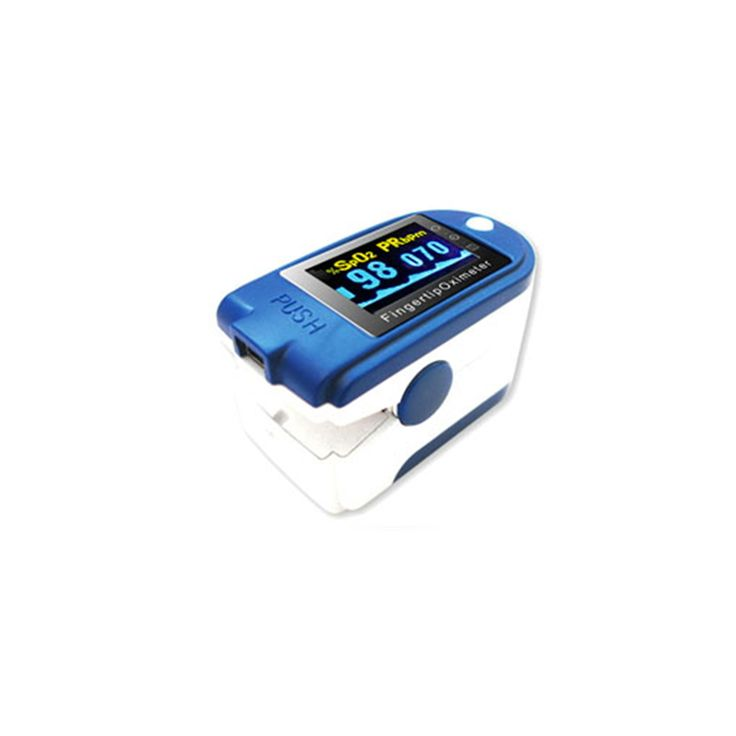 Finger pulse oximeter spo2 display heart rate monitor