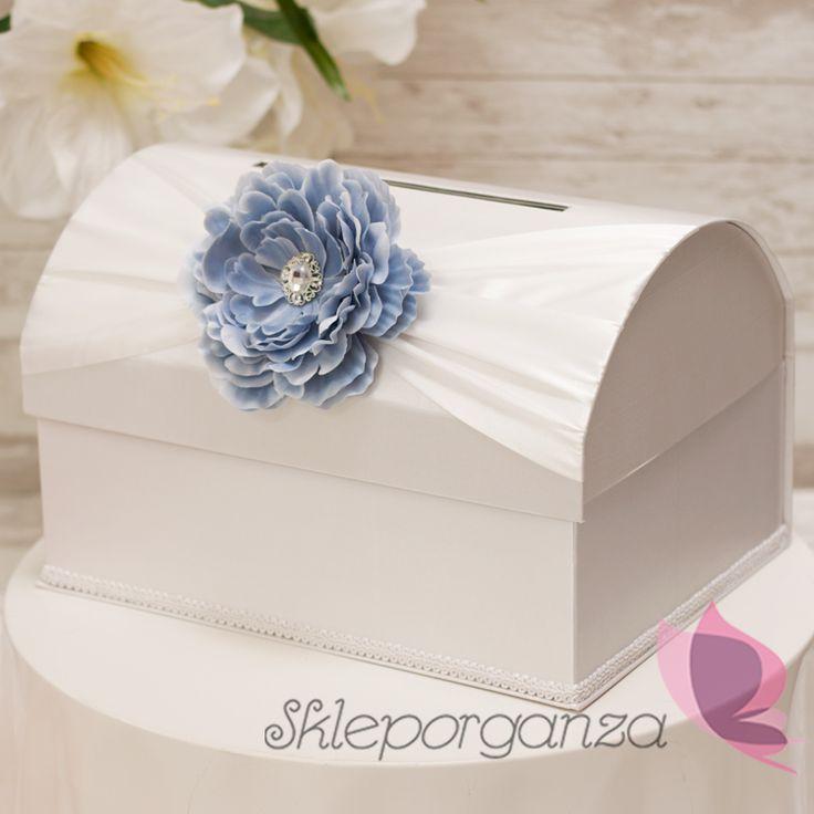 kuferek na koperty z kwiatem piwonii
