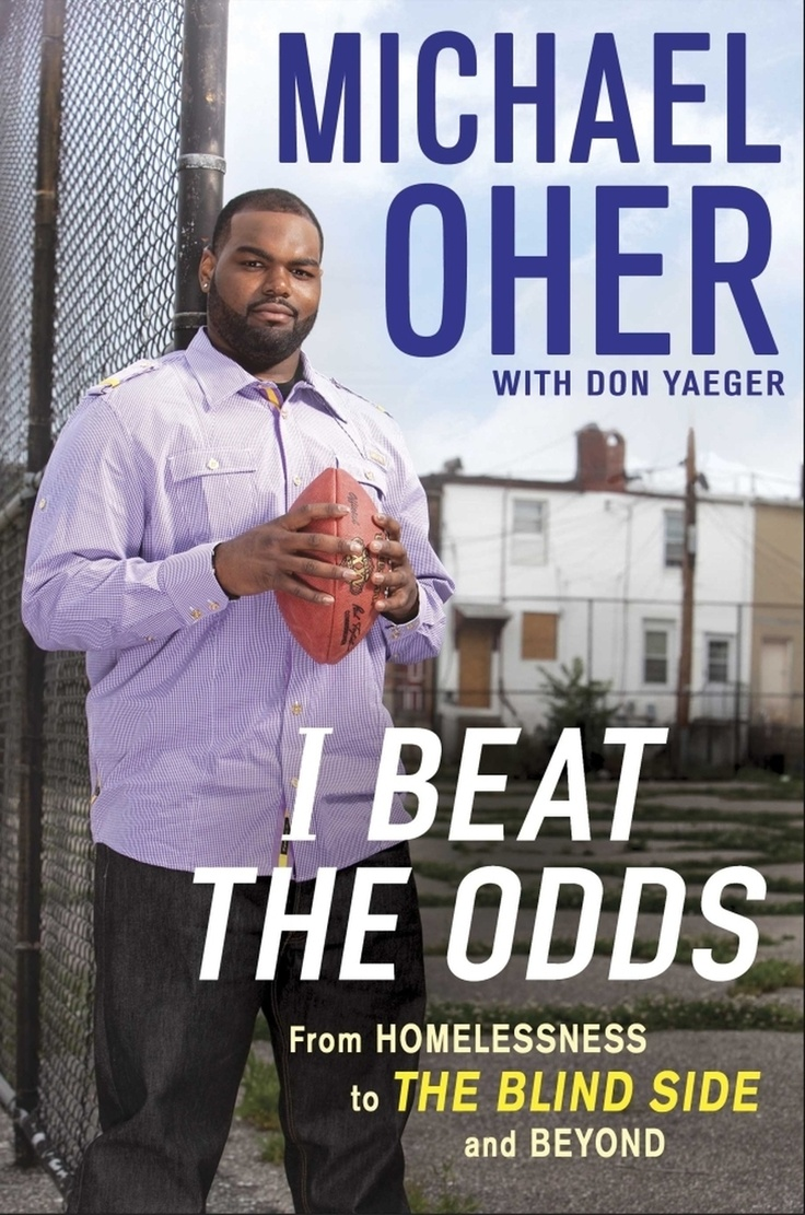 "Ravens football player and the inspiration for the movie ""The Blind Side"", Michael Oher has written a book about  how he beat the odds."