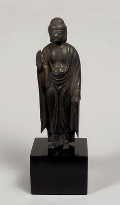 Standing figure of Amida. Japan. Heian period, AD 794-1185. Bronze. h. 17cm. Acquired 1999. Robert and Lisa Sainsbury Collection. UEA 1165. www.scva.ac.uk    Sainsbury Centre for Visual Arts