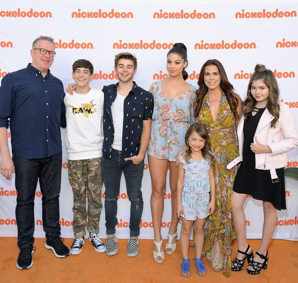 Jack Griffo Photos - (L-R) Actors Chris Tallman, Diego Velazquez, Jack Griffo, Kira Kosarin, Maya Le Clark, Rosa Blasi and Addison Riecke celebrate the 100th episode of Nickelodeon's The Thundermans at Paramount Studios on June 28, 2017 in Hollywood, California. - Nickelodeon's 'The Thundermans' Celebrate Their 100th Episode