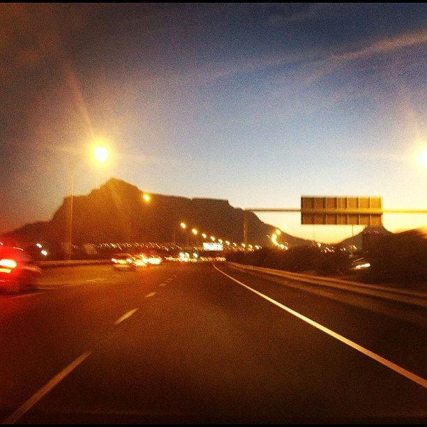 Table Mountain, Cape Town, N1 Highway