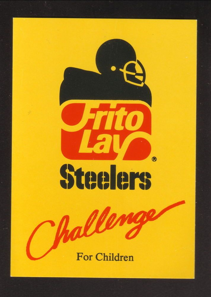 1986 Pittsburgh Steelers Schedule--Frito Lay #PocketSchedule