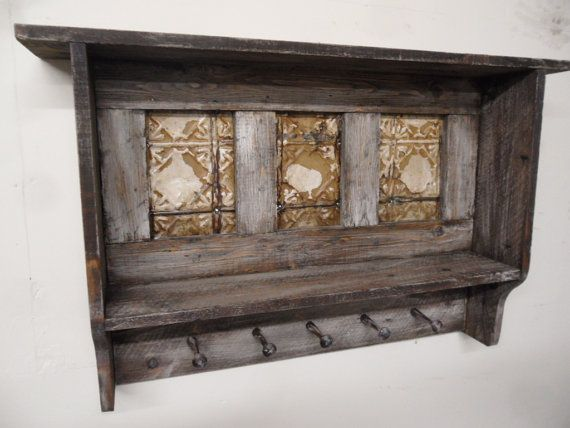 Primitive wall shelf Antique coat rack by LynxCreekDesigns on Etsy, $169.99