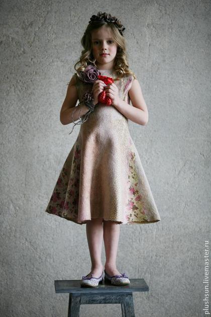 Одежда для девочек, ручной работы. Ярмарка Мастеров - ручная работа Валяное платье для девочки «Прованс». Handmade.