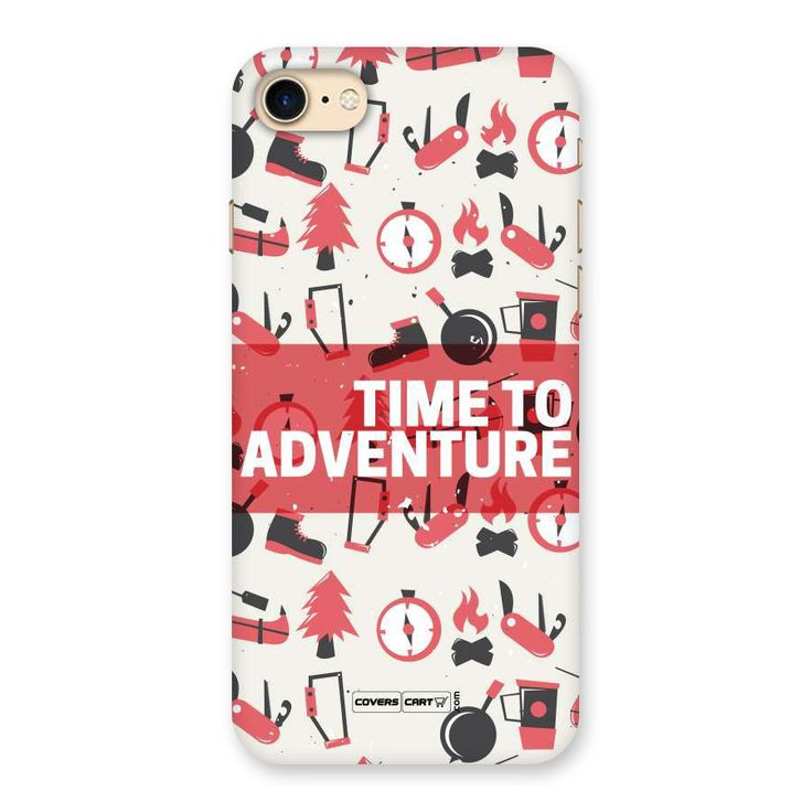 Time To Adventure Radiant Red Back Case for iPhone 7 | Mobile Phone Covers & Cases in India Online at CoversCart.com
