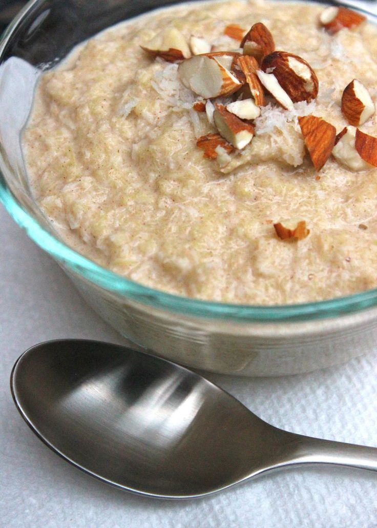 "Grain free and missing your morning oats? Give this ""faux-meal"" (made with acorn squash) a whirl."