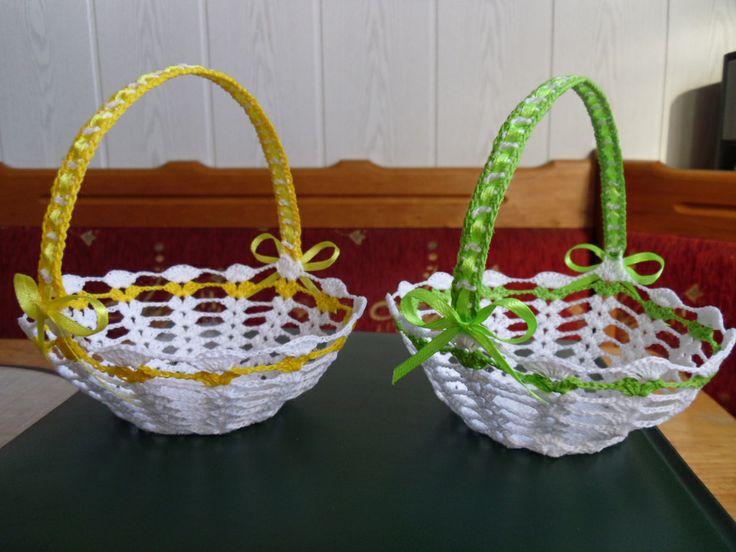 Wielkanocne koszyczki, szydełko