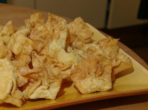 Wontons met kip, gefrituurd