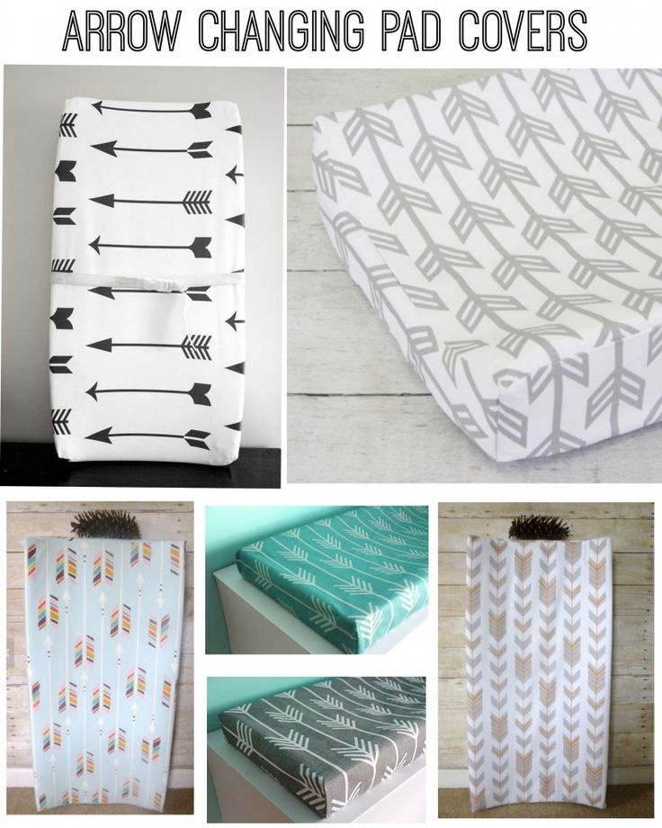 rustic arrow themed baby shower   Arrow themed changing pad covers for a rustic baby nursery