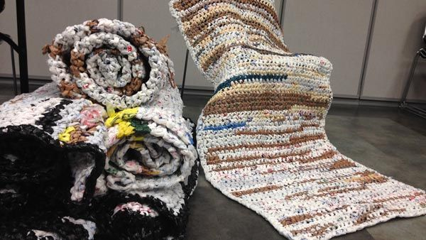 Crocheting For The Homeless : called Crocheting Compassion. They are making mats for the homeless ...