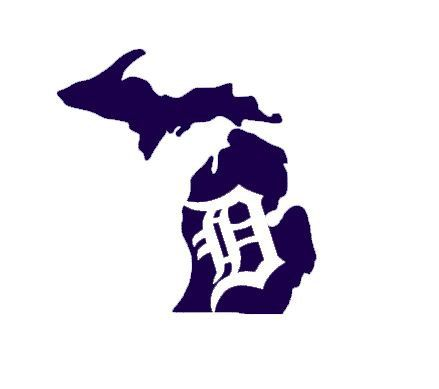 Michigan Detroit Tigers Custom State Map Wall by HeidiHenion, $4.75