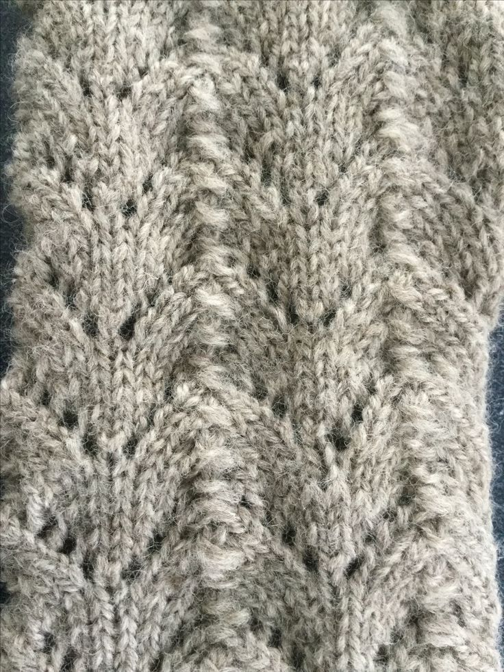 This is the 4 ply baby merino in fan stitch handknitted using 2.75 needles.
