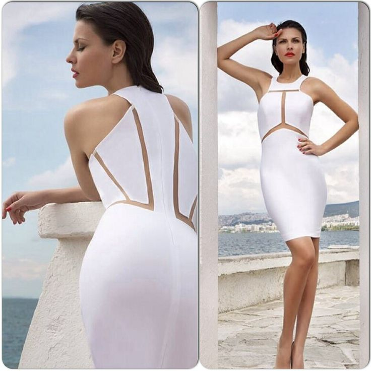 White Dress with Transparencies