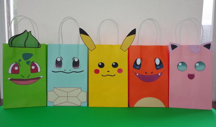 Instant Download Pokemon Favor Bags - Pokemon Party/ Goody/ Goodie/ Candy/ Gift/ Treat/Loot Bags - Pokemon Birthday Party Favors - Printable by CreativePartyStudio on Etsy Fiesta Pokemon Festa pokemon, pokemon cake decoration, Pastel de Pokemon, Bolo Pokemon/ lembrancinhas/ painel