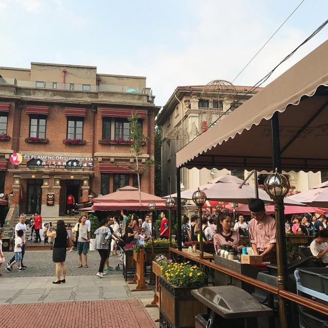 The gorgeous italianstyletown in tianjin china