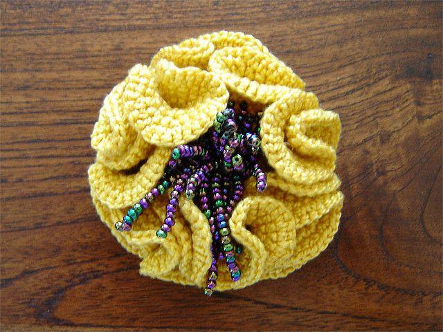 Hyperbolic Gold Brooch
